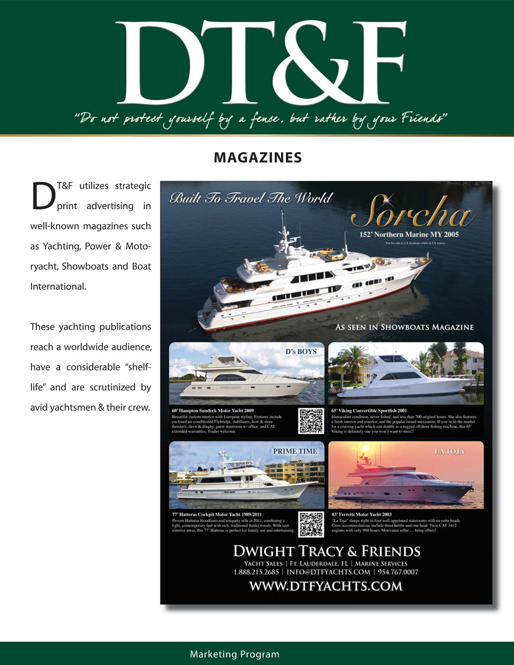 DT&F Yacht Sales Marketing Program picture 8