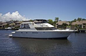 52′ Hatteras Cockpit Motor Yacht 1990 – YEMANJA - Dwight Tracy & Friends (DT&F) – New Yacht Sales & Brokerage – Blackfin Boats & McKinna Yachts